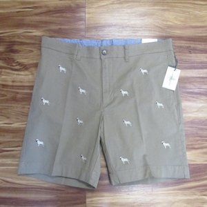 Southern Pines Men's Dog Embroidered Shorts 36 NWT